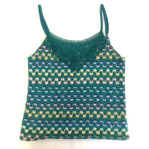 Free People Crochet Tank Top Cropped Lace Small